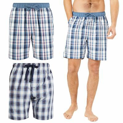 £8.99 • Buy New Mens M&S Collection Pure Cotton Checked Shorts Lounge Pyjama PJ's Pants