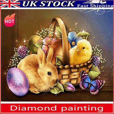 5D DIY Full Drill Diamond Painting Easter Cross Craft Stitch Art Kits Home Decor • 6.39£