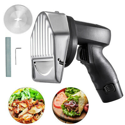Electric Doner Kebab Slicer Cutter Meat Knife Kitchen Cutting Supply W/ 2 Blade • 84.35£