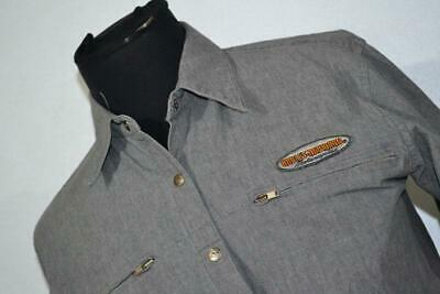 $ CDN26.35 • Buy 16850-a Harley-Davidson Button Up Shirt Size Small Gray Womens