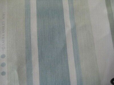 £35 • Buy New Laura Ashley Awning Stripe Pistachio Duck Egg Fabric Material (per Metre)