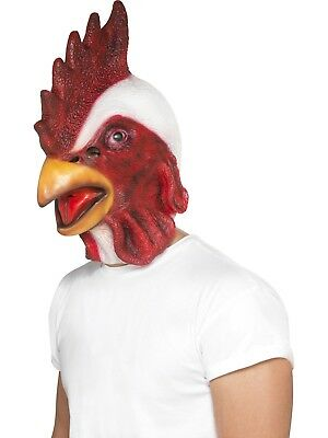 £14.49 • Buy Chicken Mask Mens Full Overhead Face Mask Animals Fancy Dress Accessory