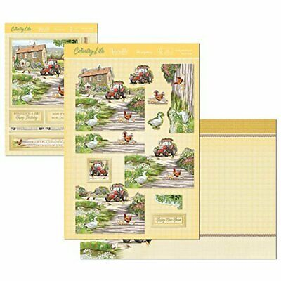 Hunkydory Farm Yard Friends Deco Large Decoupage Card Kit P&P Discount • 1.99£