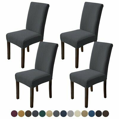 AU24.99 • Buy 8Pcs Dining Chair Covers Stretch Banquet Seat Cover Washable Slipcover Protector