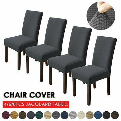 AU14.99 • Buy 4/6/8PCS Dining Chair Seat Covers Slip Stretch Wedding Banquet Party Removable
