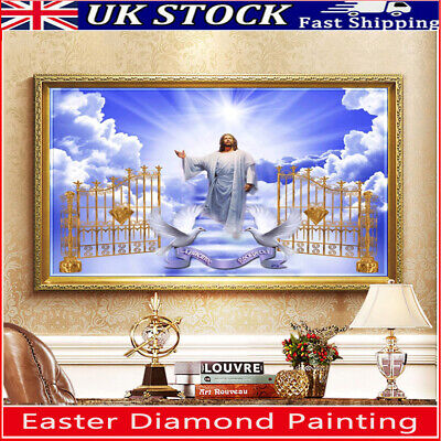 Easter Religion Door 5D DIY Full Drill Diamond Painting Cross Stitch Embroidery • 6.39£