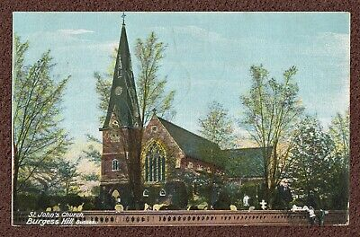 £7.25 • Buy BURGESS HILL,SUSSEX,POSTCARD ; St. John's Church. 1905 Vintage, Colouring Added
