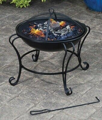 Outsunny Outdoor Fire Pit Wood Log Burning Heater Garden Stove Patio Brazier • 64.99£