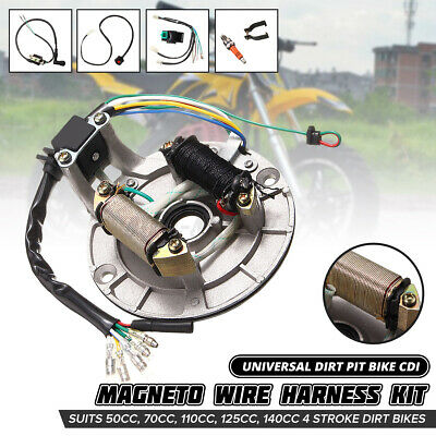 $29.92 • Buy Wire Harness CDI Spark Plug Switch Coil For 4 Stroke 50cc-125cc Dirt Pit Bike