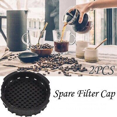 2PCS Spare Portable Filter Caps - Replacement Part For Coffee And Maker BLACK • 3.99£