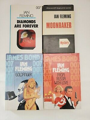 $59.90 • Buy James Bond 007 Ian Fleming - Lot Of 4 Hard Cover Books Ex Library - LARGE PRINT