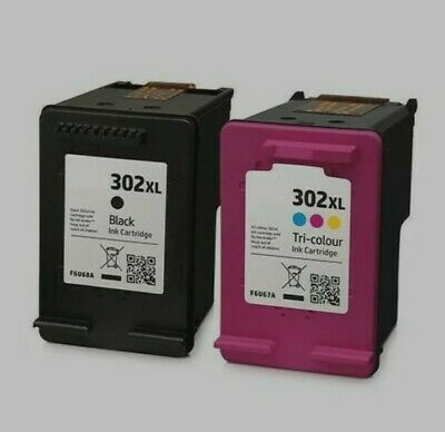 Refilled 302XL Black/Colour Ink Cartridges For HP DeskJet Printer - Sealed  • 15.99£