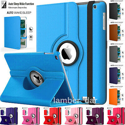 £5.99 • Buy Apple IPad All Generation 360° Rotating Slim Leather Case Smart Stand Flip Cover