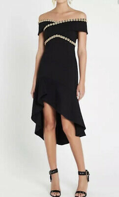 AU159 • Buy SASS & BIDE Size 14 (US 10) Enlightenment Black Embellished Off Shoulder DRESS
