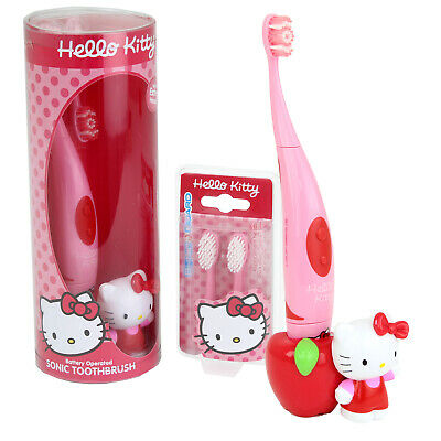 £7.99 • Buy Kids Hello Kitty Toothbrush Battery Operated Sonic Electric Spare Heads 3+ Years