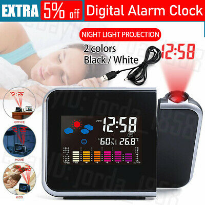AU16.95 • Buy Smart Digital LED Projection Alarm Clock Temperature Projector LCD Display Time
