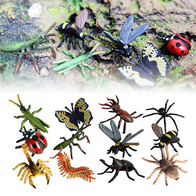 £4.67 • Buy 12pcs Plastic Insect Figures Bugs Lifelike For Children Educational Toys Gifts