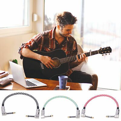 $ CDN15.72 • Buy 3Pcs Guitar Effect Pedal Cables Connector Patch Braided Cable Durable Practical