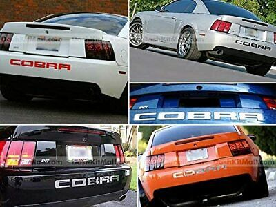 $23.95 • Buy Dkm   Rear Bumper Letters Inserts Chrome For Mustang Cobra 2003-2004 Not Decals