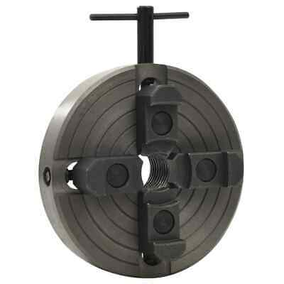 £48.99 • Buy VidaXL 4 Jaw Wood Chuck With M33 Connection Steel Black 150x63 Mm Lathe Tool