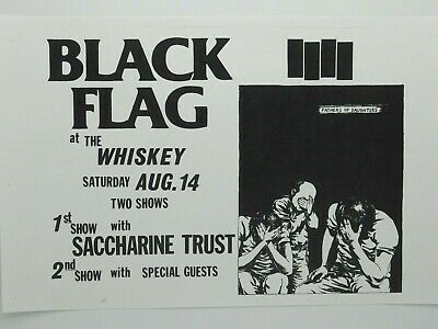$14.95 • Buy Black Flag Banned From The Whiskey Two Shows 1982  Rare La Punk Concert Poster