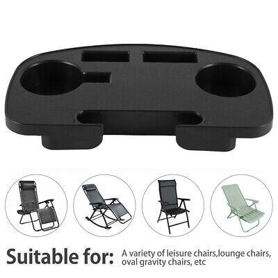 £9.29 • Buy Zero Gravity Recliner Sun Lounger Chair Clip Side Tray Table Cup Holder Outdoor