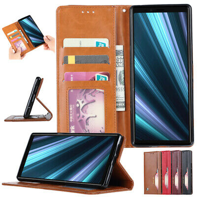 AU12.89 • Buy For Sony XZ2/3 XA2 Utlra Xperia 1 5 10 Wallet Leather Flip Card Case Pouch Cover
