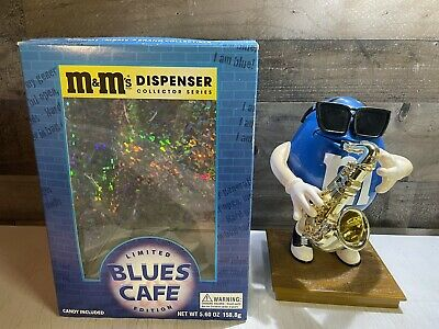 $11.99 • Buy M&M Blues Cafe Jazz Sax Player Candy Dispenser Vtg 1993 Limited Edition Works!!!
