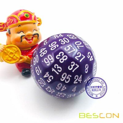 AU21.69 • Buy Bescon Polyhedral 100 Sides Dice, D100 Game Dice, 100-Sided Dice Solid Purple