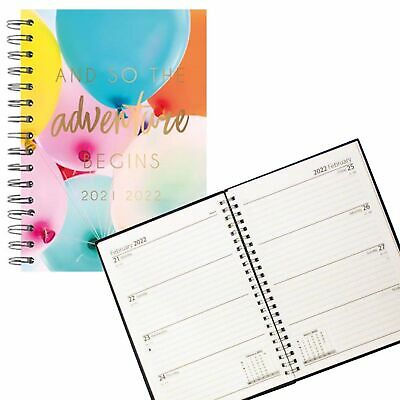 £3.49 • Buy 2021 - 2022 Academic A5 Week To View Hardback Student Diary 3095 - Balloons