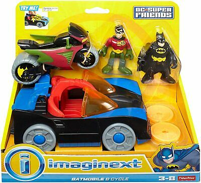 £24.99 • Buy Fisher-Price Imaginext DC Super Friends, Batmobile & Cycle