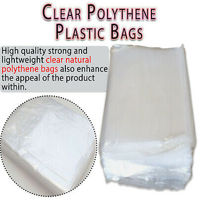 Clear Polythene FREEZER STORAGE Plastic Bags All Sizes Crafts Food Small Large • 3.29£