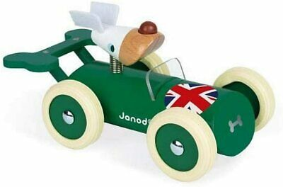 £11.95 • Buy Janod - Spirit - Wooden Car Toy - Richard - Rubber Wheels And Glossy Paint, J044