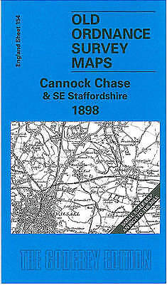 £4.01 • Buy Cannock Chase And SE Staffordshire 1898 One Inch Map 154 Old Ordnance Survey Map