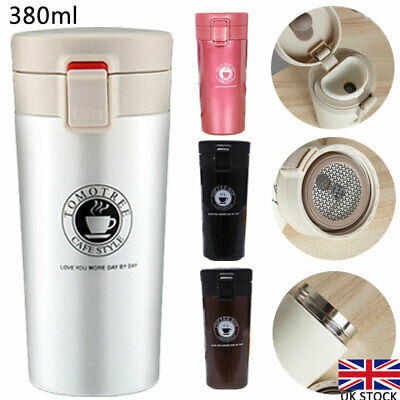 £10 • Buy 380ml Stainless Steel Cup Leakproof Insulated Thermal Travel Coffee Mug Flask