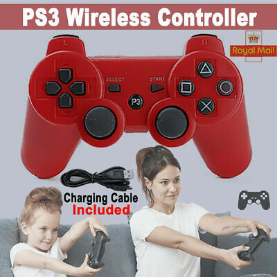 UK RED PS3 Bluetooth Wireless Controller Control For Playstation 3 FAST SHIP • 9.39£