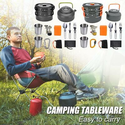 £32.65 • Buy 12Pcs/Set Portable Camping Cookware Kit Outdoor Hiking Picnic  Cooking Equipment