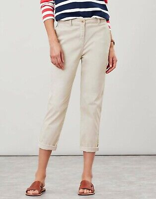 £34.99 • Buy Ivory (light Beige) Joules Hesford Cropped Chinos Trousers - Size 10 And New