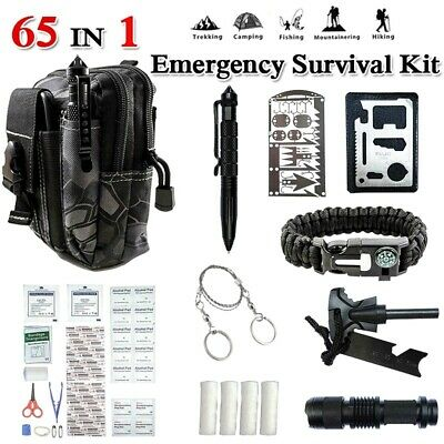 $31.99 • Buy 65 In 1 Emergency Survival Backpack Kit Outdoor Tactical Camping Hiking EDC Gear
