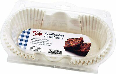 Tala Non Stick Loaf Tin Cake Cases Liners Pk40 1LB 10A 05201 • 10.99£
