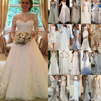 £25.99 • Buy Women's Lace Tulle Long Maxi Dress Bridesmaid Wedding Party Gown Mermaid Dresses