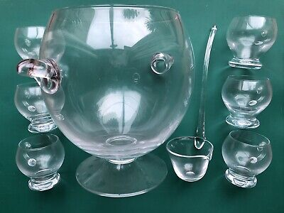 £79.99 • Buy BNWOB John Lewis CLEAR GLASS PUNCHBOWL With LADLE And SIX GLASSES Parties Events