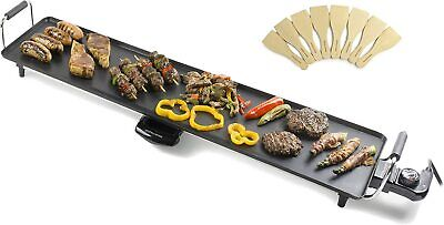 £49.99 • Buy Teppanyaki Electric XXL Grill Plate Non-Stick Tabletop Griddle Andrew James