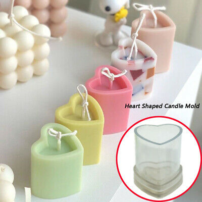 £6.24 • Buy Love Heart Shaped Candle Mold Perfume Candle Making Wax Mould 3D Soap DIY Molds