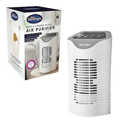View Details Silentnight Air Purifier With HEPA & Carbon Filters / Ionizer And Timer Function • 44.99£