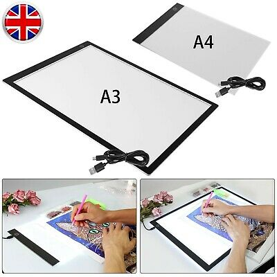 £17.99 • Buy A3 LED Copy Drawing Board Diamond Painting Art Light Pad Tracing  For Artists