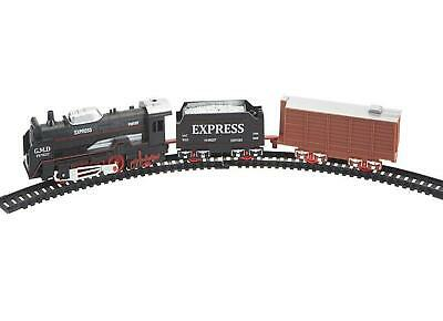 £9.99 • Buy Vintage Train Set Retro Style Toy Tracks Cargo Carriages Easy Assembly Battery