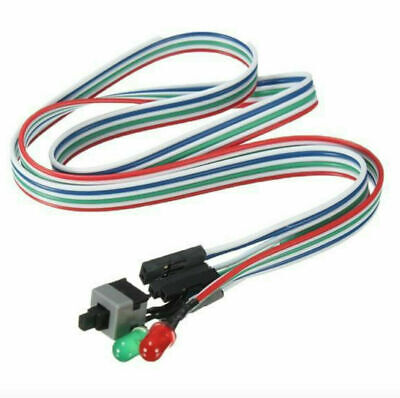 £1.17 • Buy ATX PC Computer-Motherboard Power-Cable Switch On/Off/Reset-Button-Replacement