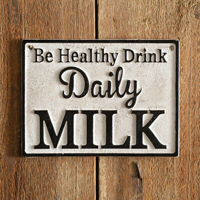 $24.99 • Buy Daily Milk Cast Iron Wall Sign