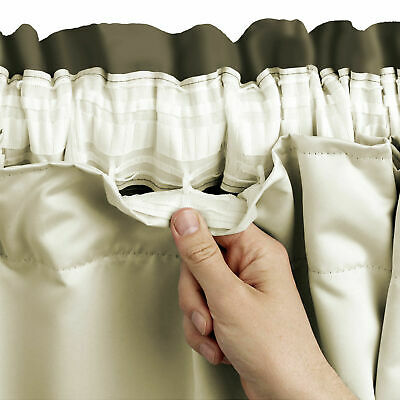 £15.99 • Buy Pencil Pleat Thermal Blackout 3 Pass Ready Made Lining For Tape Top Curtains